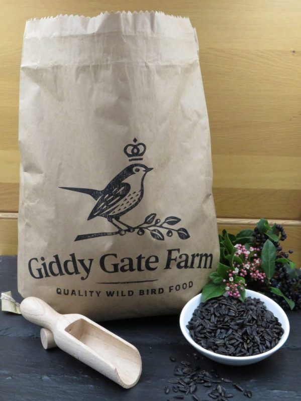 Black Sunflower Seeds, for wild bird feeding recyclable packaging paper sack