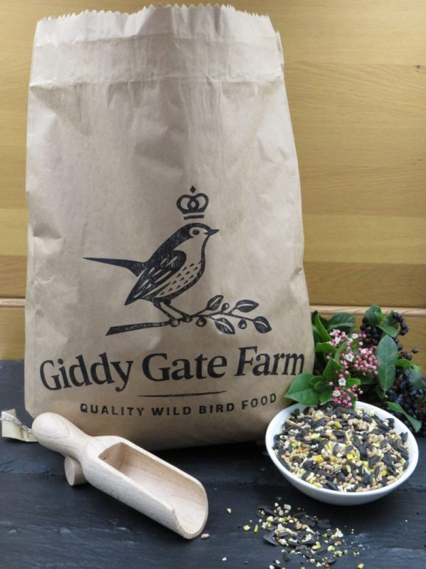 Everyday Mix for feeding wild birds. Packaged in paper recyclable sack