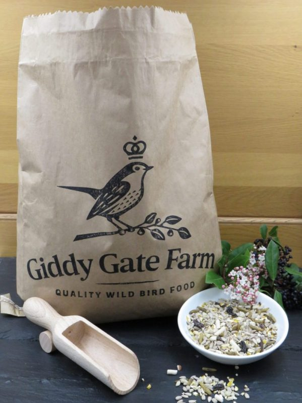 No mess bird food. Mighty Feast, husk free wild bird food. In recyclable paper packaging
