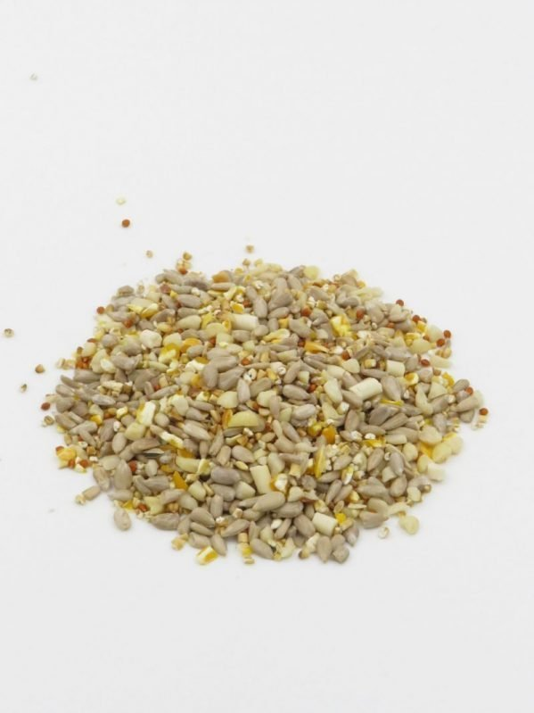 Max Energy stay tidy mix. High energy wild bird food husk free for less mess and waste.