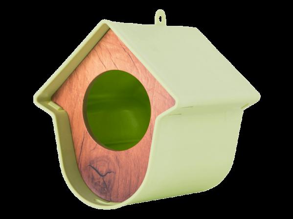 Green Evie Singing friend wild bird feeder. For large suet logs or bird peanut butter jars