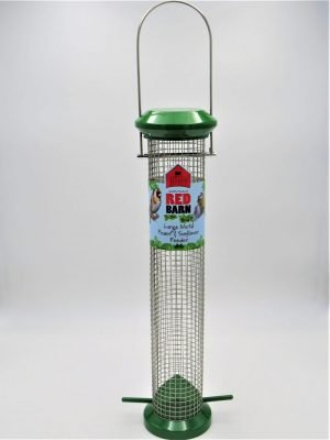 Red Barn large wild bird feeder for peanuts, green metal,