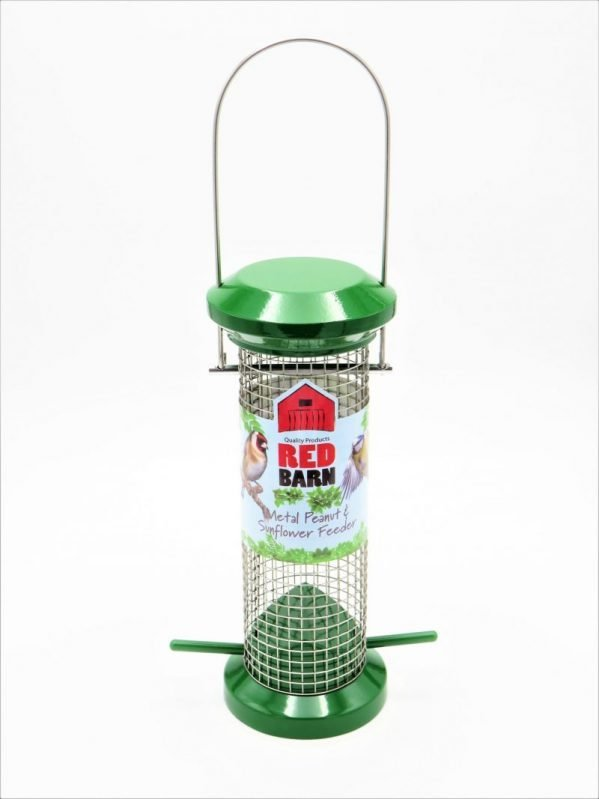 Red Barn metal wild bird feeder for peanuts, small