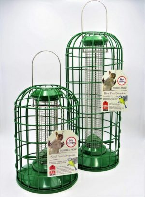 Red Barn green metal squirrel guardian for peanut feeders, small and large