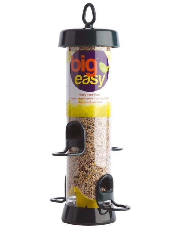 Big Easy wild bird seed feeder. $ port, large capacity holds 1.6 litres of wild bird seed.