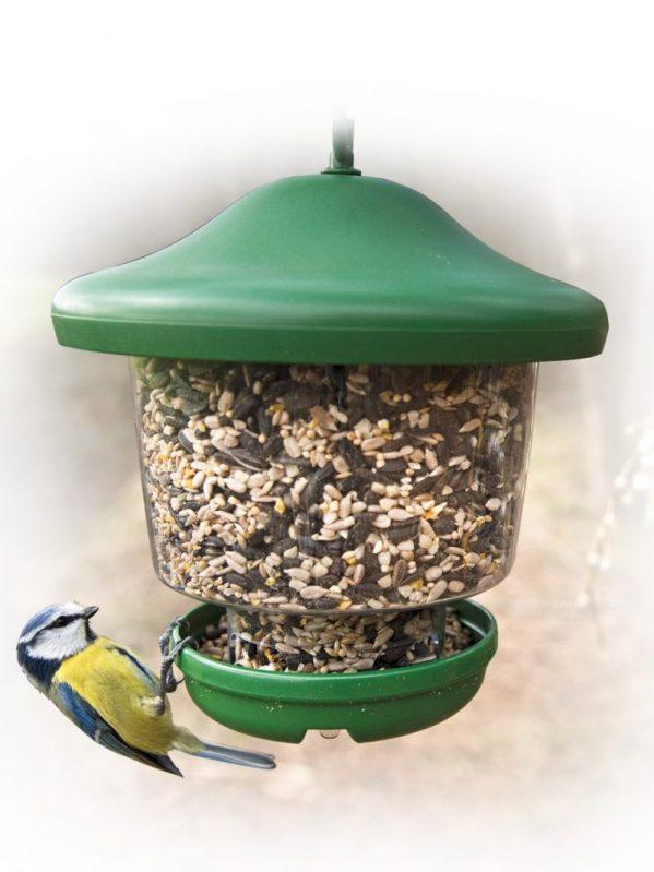 My Favourites wild bird feeder. Holds 1.3 litres bird seed. Stops larger birds perching.