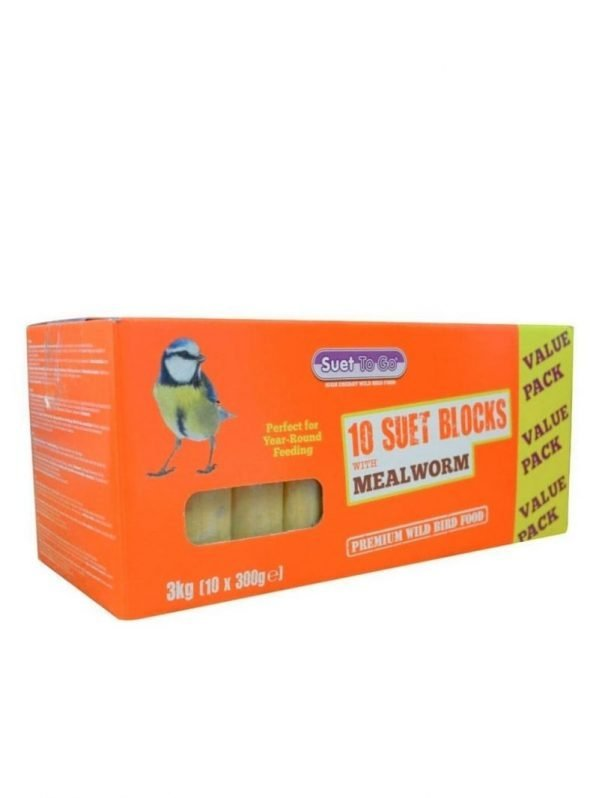 Pack of 10 peanut flavour peanut blocks for wild bird feeding. High energy food source.