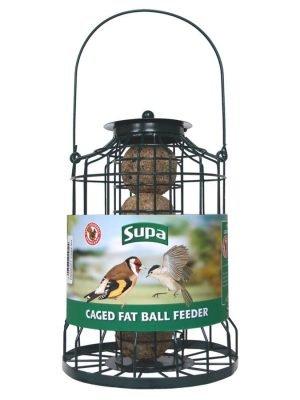 Supa caged fat ball wild bird feeder