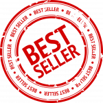 best seller stamp red and white