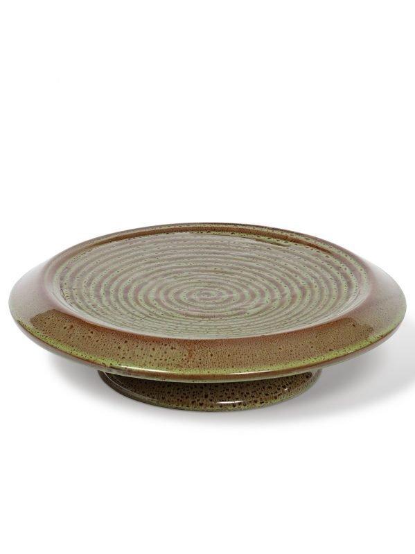 Inspira ceramic glaze birdbath with ground stand