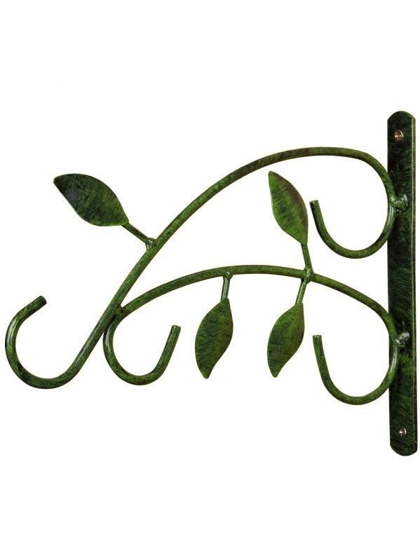 Leaf wall bracket for hanging bird feeders