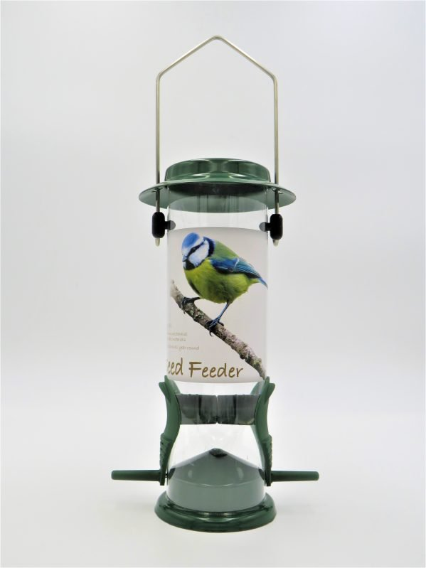 Red barn metal seed feeder with 2 ports