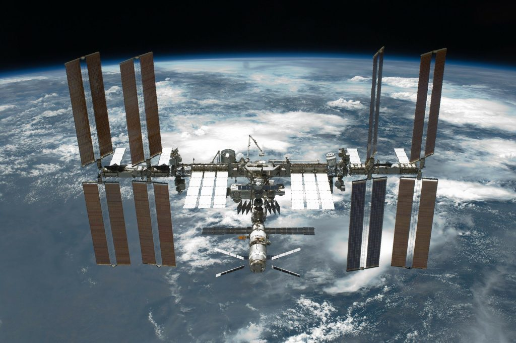 INternational Space Station with Solar Panels