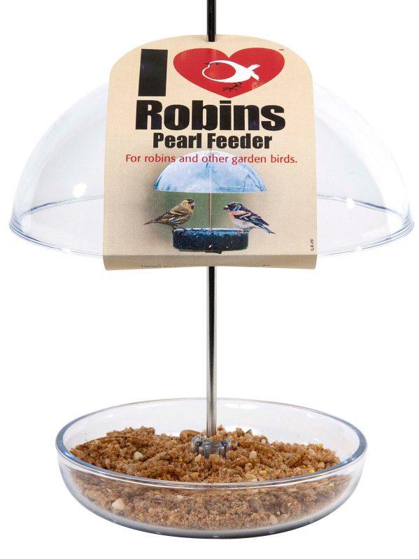 I Love Robins Pearl feeder for feeding robins