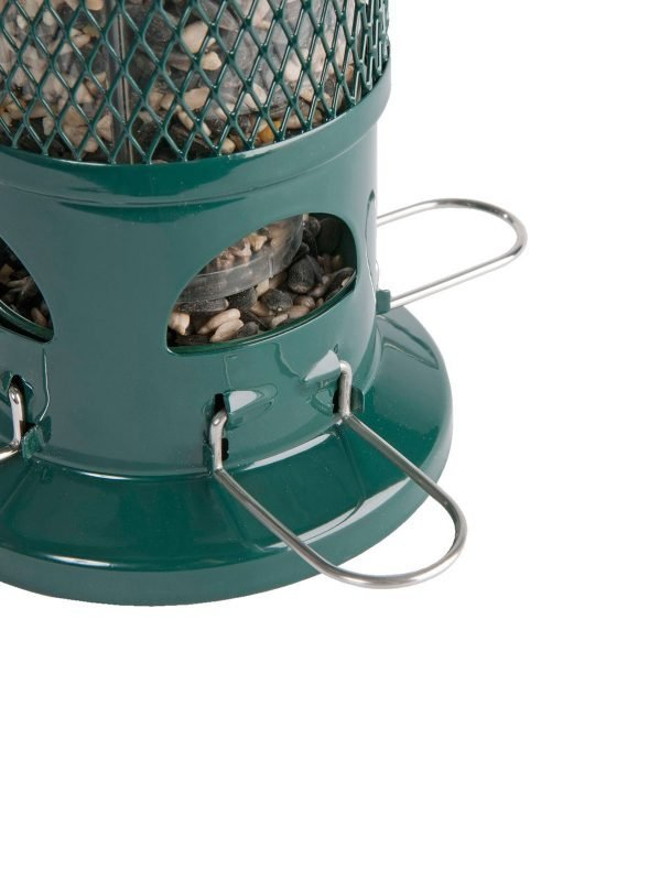 Squirrel buster squirrel proof wild bird feeder close up of ports open for birds to feed