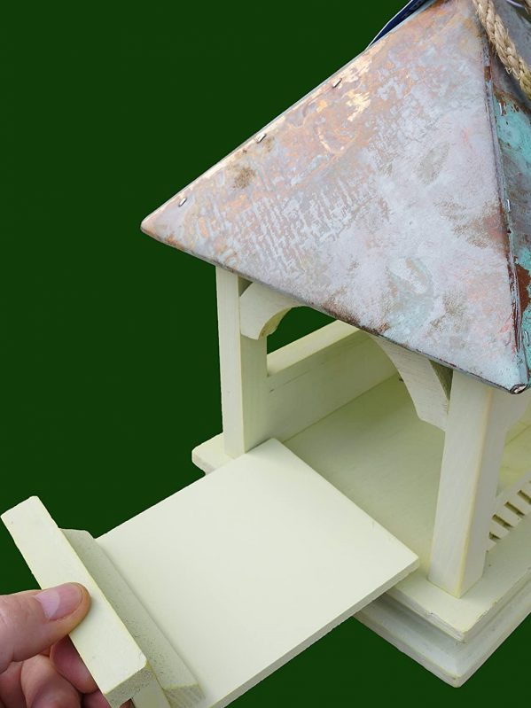 Bempton hanging feeder for wild birds with removable side for easy cleaning